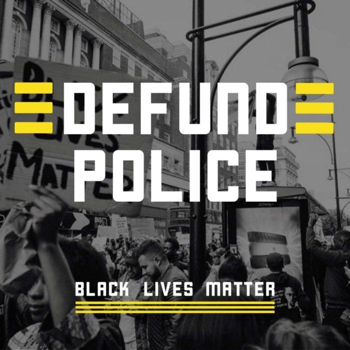 defund the police BLM image
