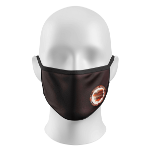 Face Mask Brown with Logo on Left Side
