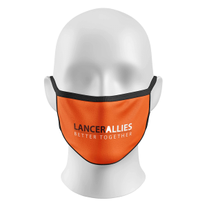 Face Mask Orange with Text