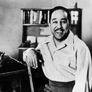 Langston Hughes in his office
