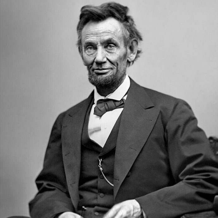Abraham Lincoln sitting for last photograph assassination