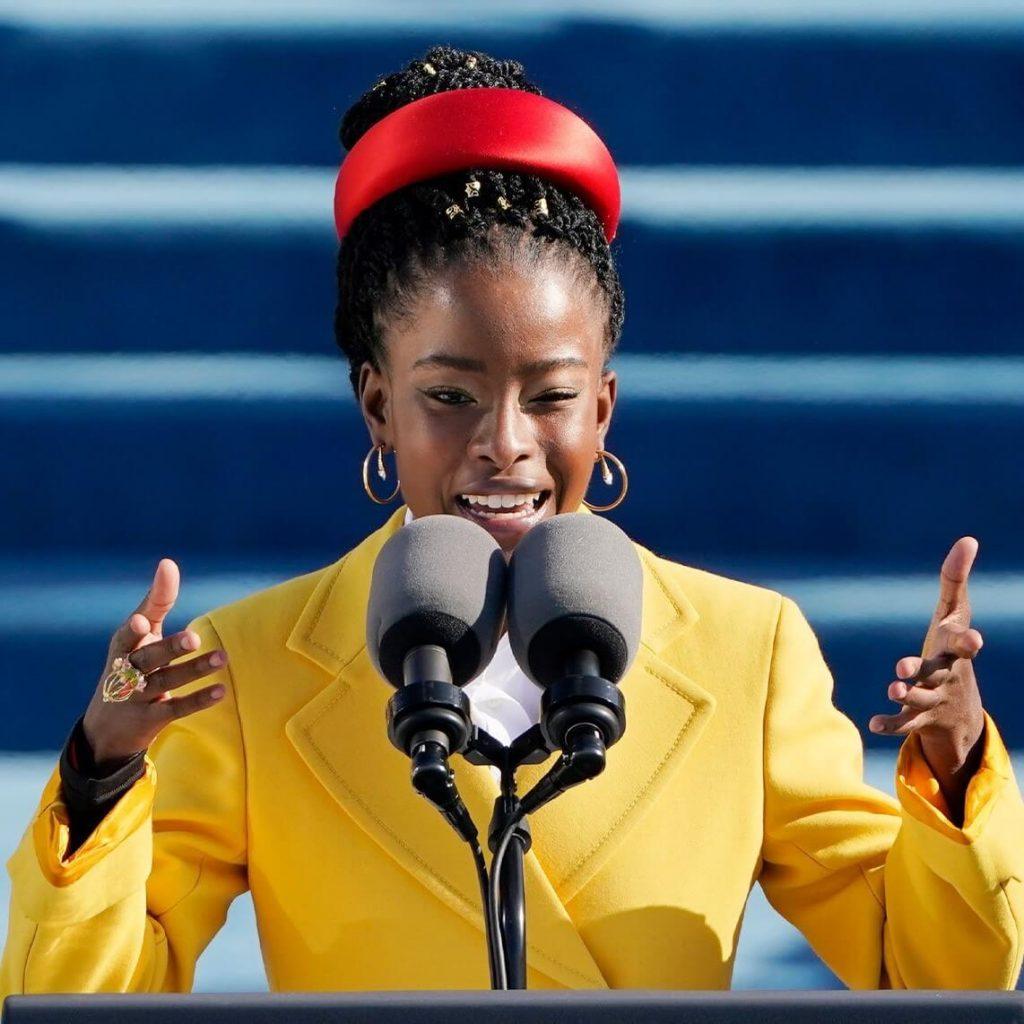 Amanda Gorman Speaking at the Biden - Harris Presidential Inauguration