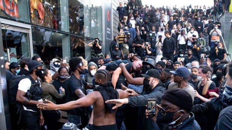 BLM Activist Saves White Far-Right Protester