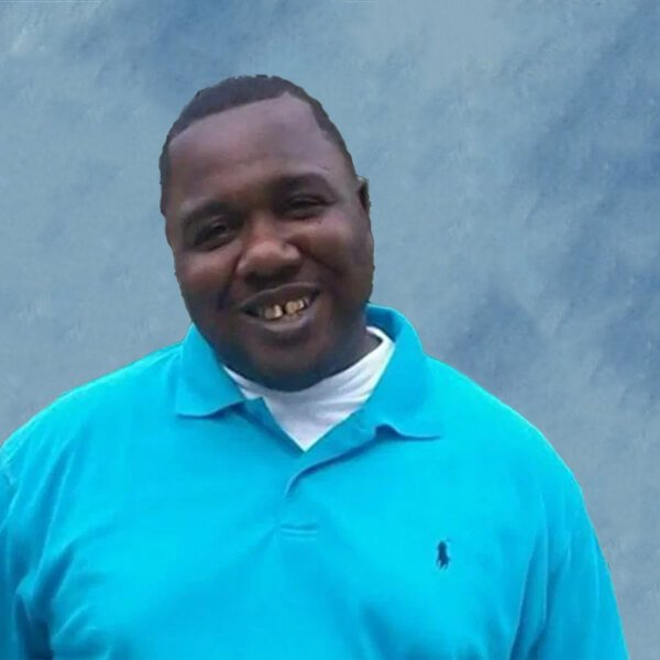 Alton Sterling picture on square blue background