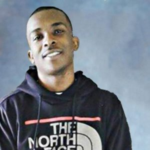 Stephon Clark picture on square blue background