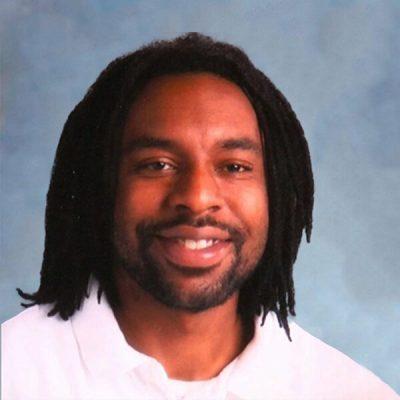 Philando Castile picture on square tan background